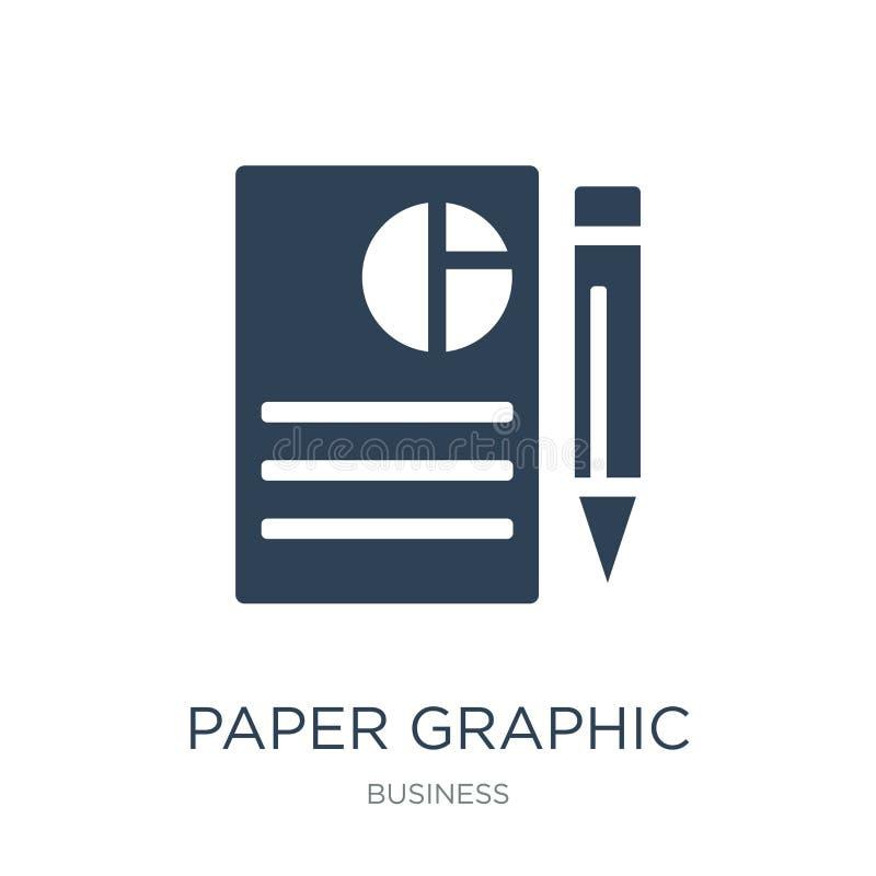 grafische Papierikone in der modischen Entwurfsart grafische Papierikone lokalisiert auf weißem Hintergrund grafische Vektorpapie stock abbildung