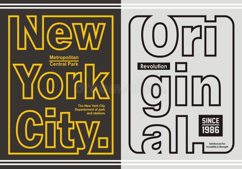 Grafische Retro- Linie Typografie für T-Shirt, Emblem, vektor abbildung