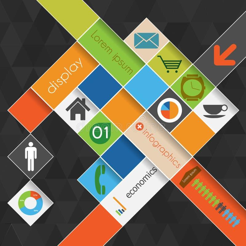 Grafische Schablone der modernen abstrakten Informationen mit Platz  lizenzfreie abbildung