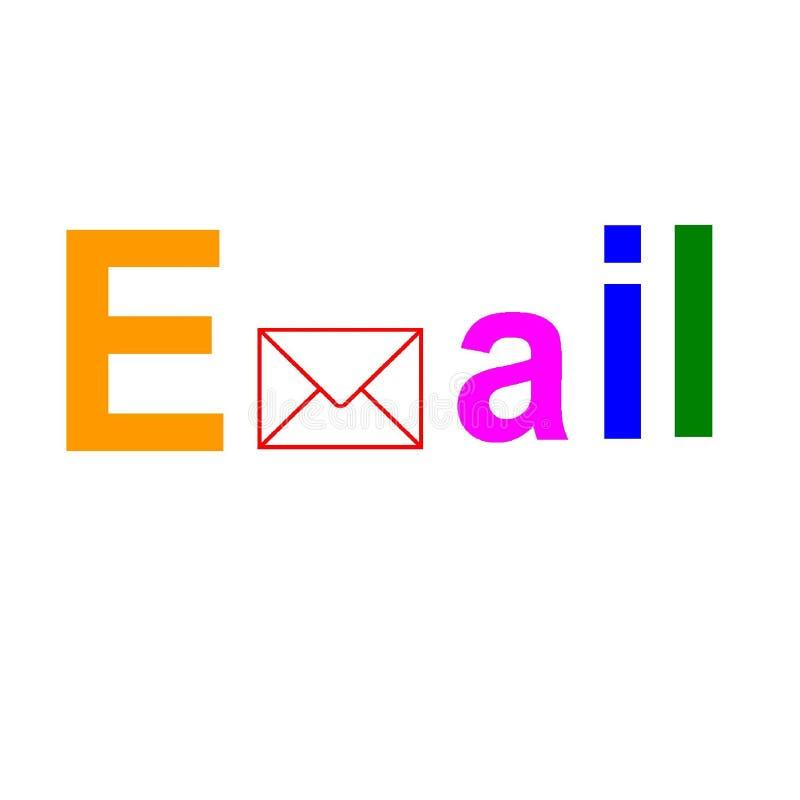 Grafische spelling e-mail royalty-vrije illustratie