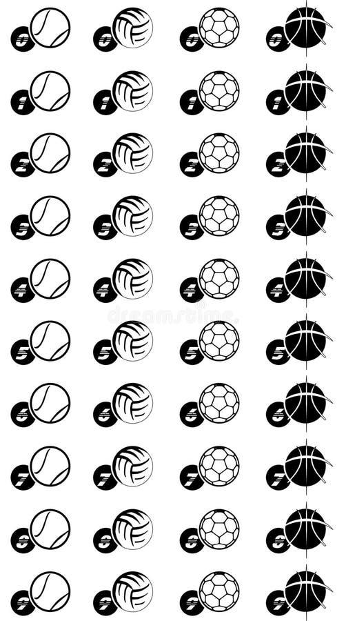 Grafische sportenballen stock illustratie