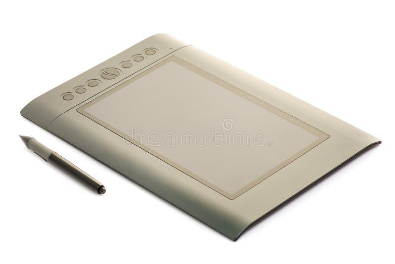 Grafische tablet op witte isolatie als achtergrond royalty-vrije stock foto's