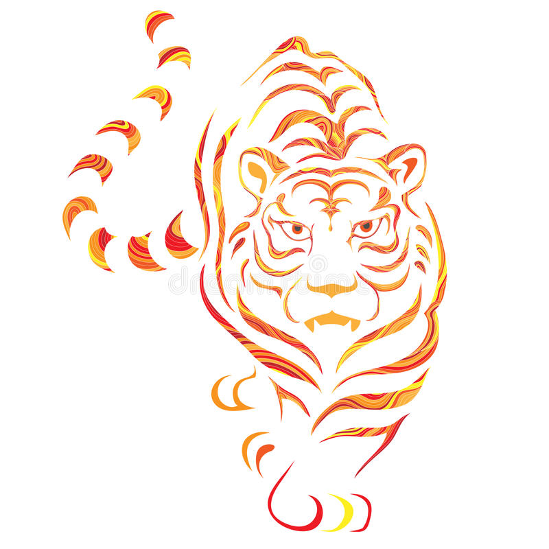 Grafische tijger royalty-vrije stock fotografie