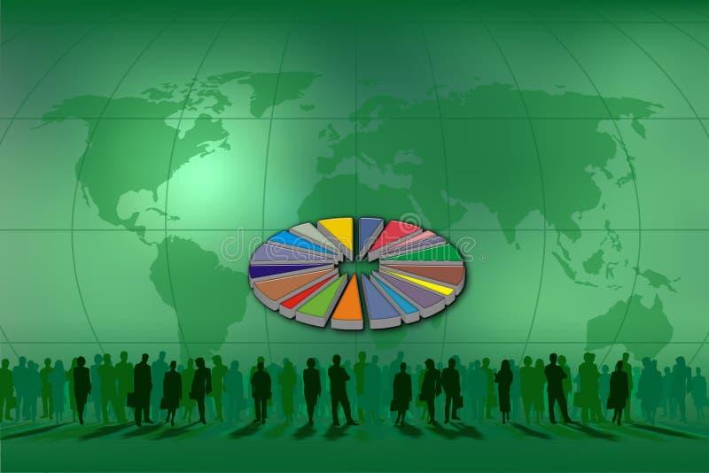 Grafische Torte für Statistiken lizenzfreie abbildung