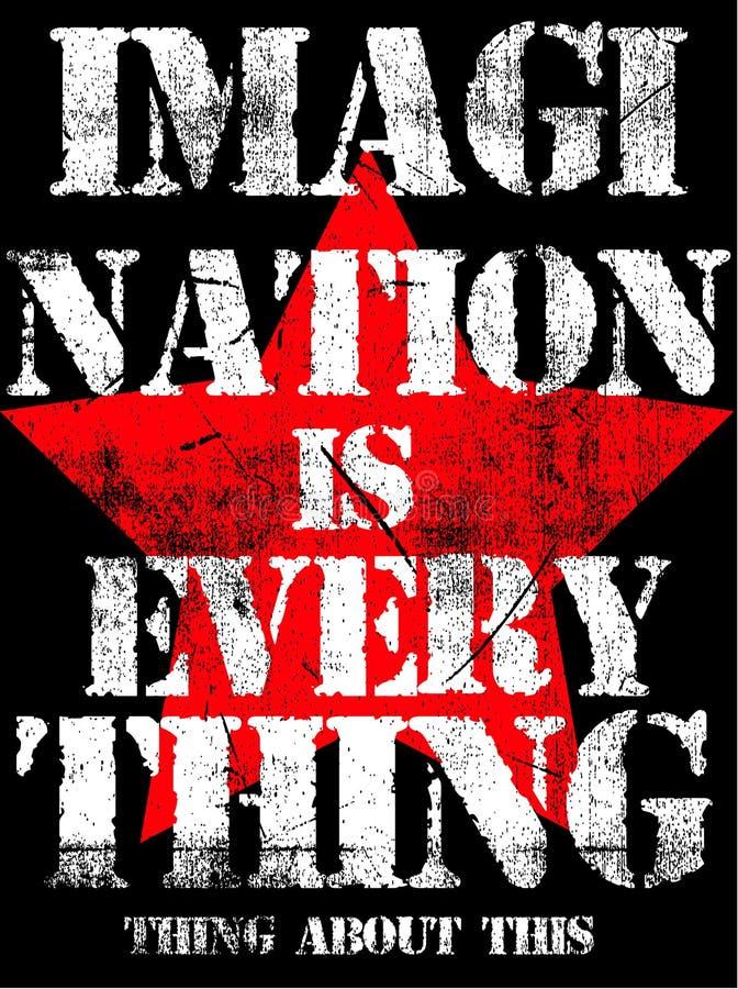 Grafische Vectorontwerp van de slogan het Uitstekende T-shirt stock illustratie