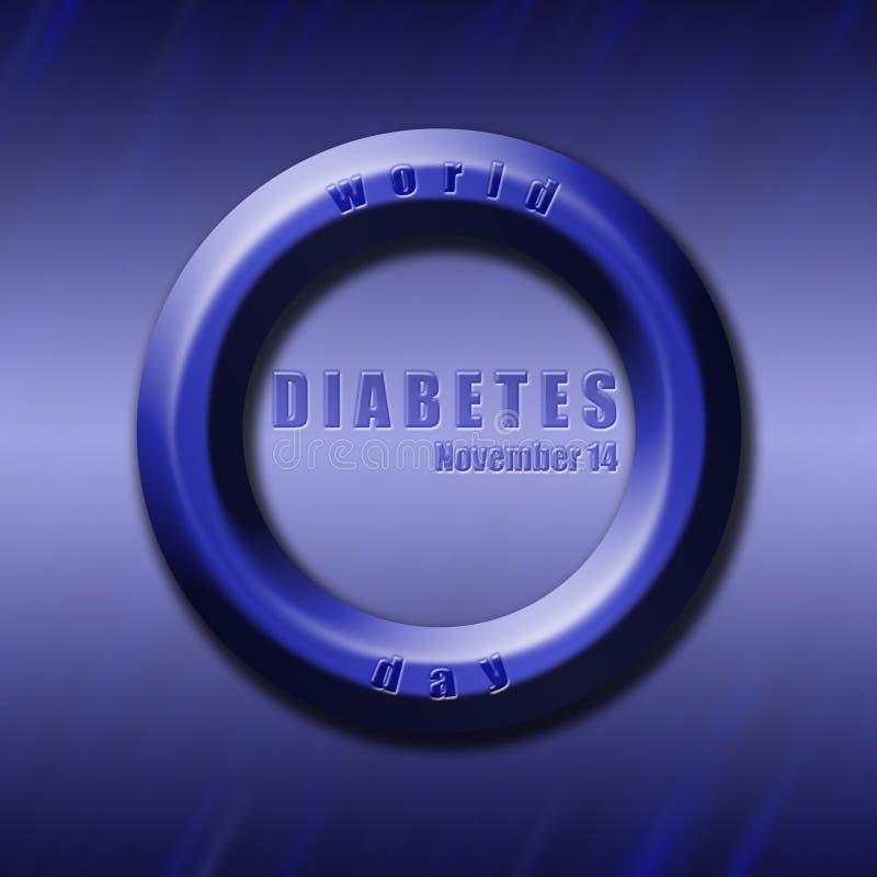 Grafische verwante de Diabetesdag van de ontwerpwereld vector illustratie