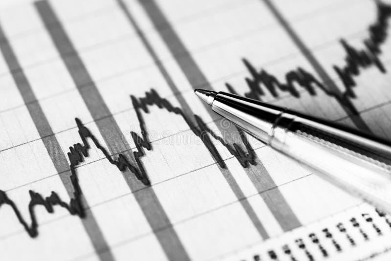 Grafische voorraad, effectenbeursneerstorting royalty-vrije stock afbeeldingen