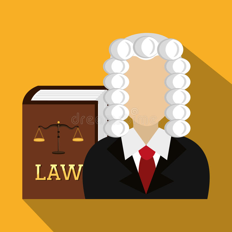 Grafische wet en wettelijke rechtvaardigheid stock illustratie