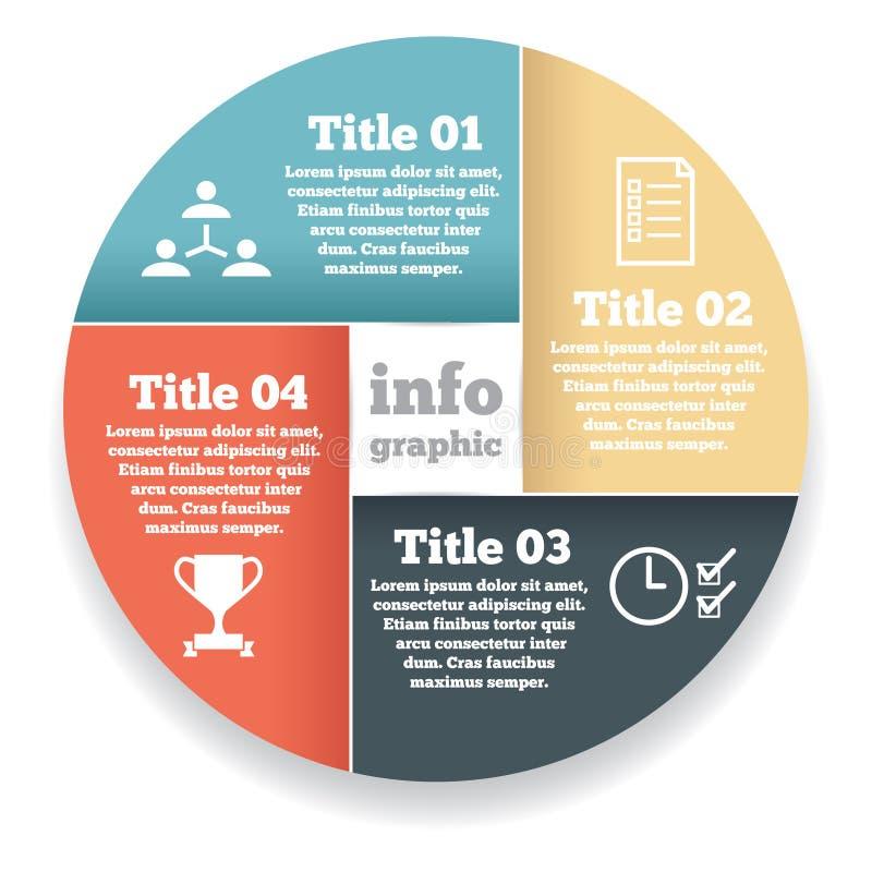 Grafische zakenkringsinformatie, diagram stock illustratie