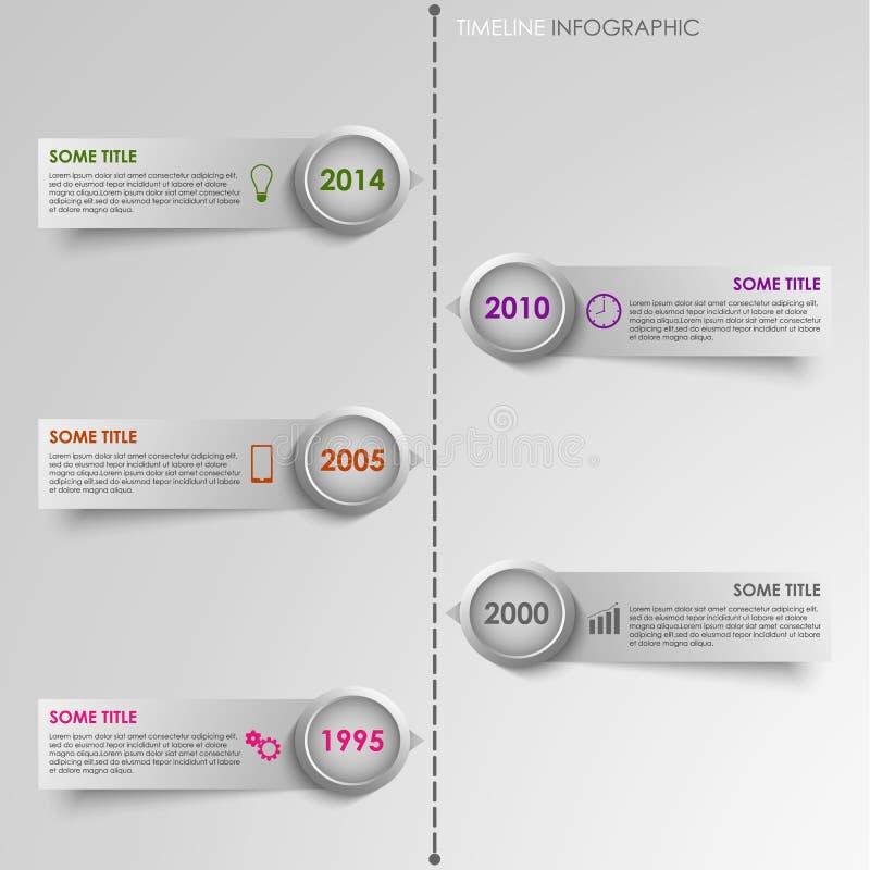 Grafische Zeitlinie gestreifter Hintergrund der Informationen lizenzfreie abbildung