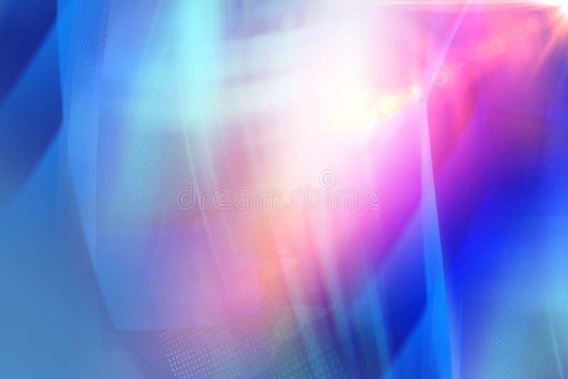 Grafischer abstrakter blauer Themahintergrund mit Blendenfleckkonzept lizenzfreie abbildung