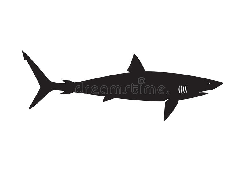 Grafischer Haifisch, Vektor stock abbildung
