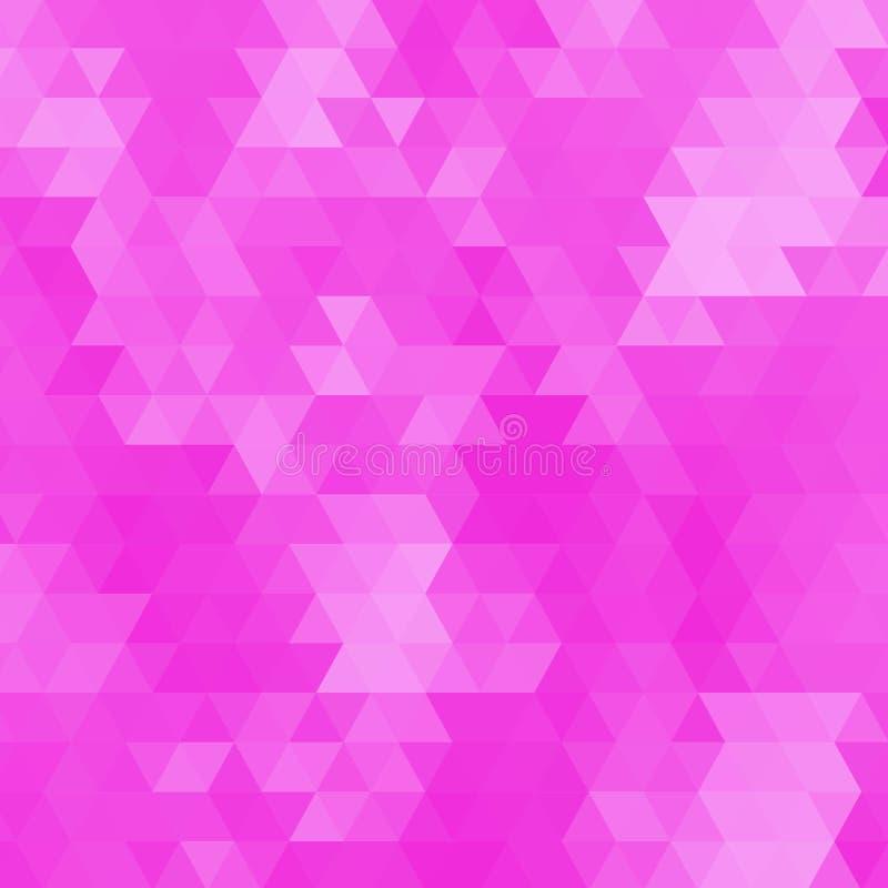 Grafischer Hintergrund der rosa pinkfarbenen Zusammenfassungsgeometrischen zerknitterten dreieckigen niedrigen Polyartvektor-Illu stock abbildung