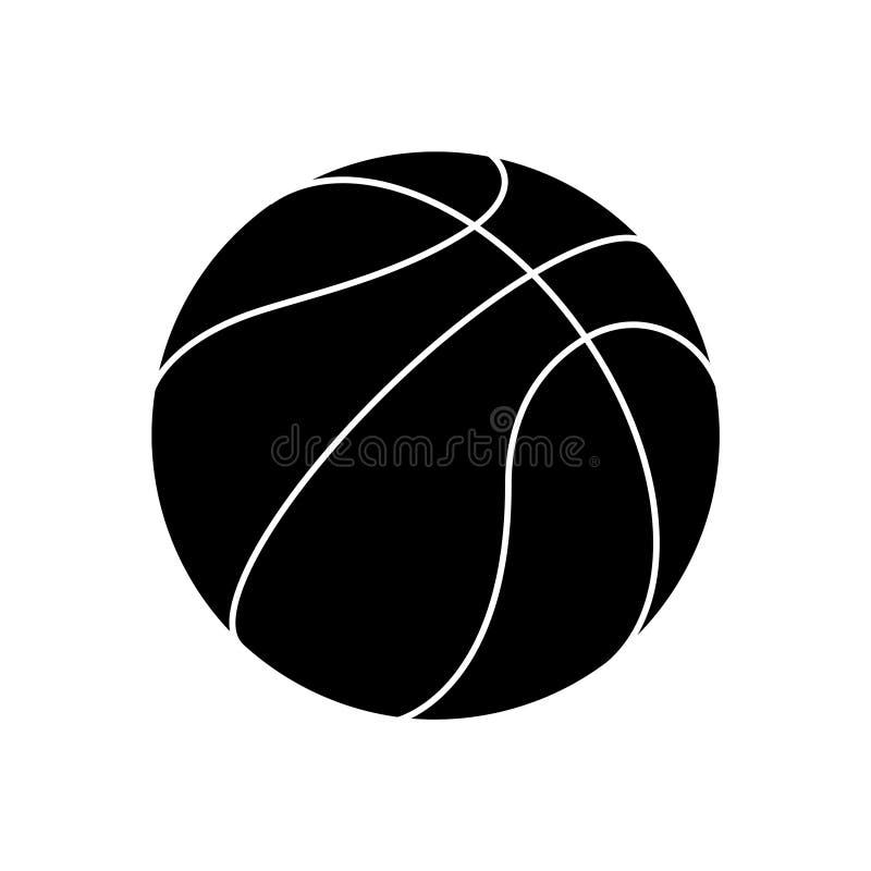 Grafischer Ikonenbasketballball vektor abbildung