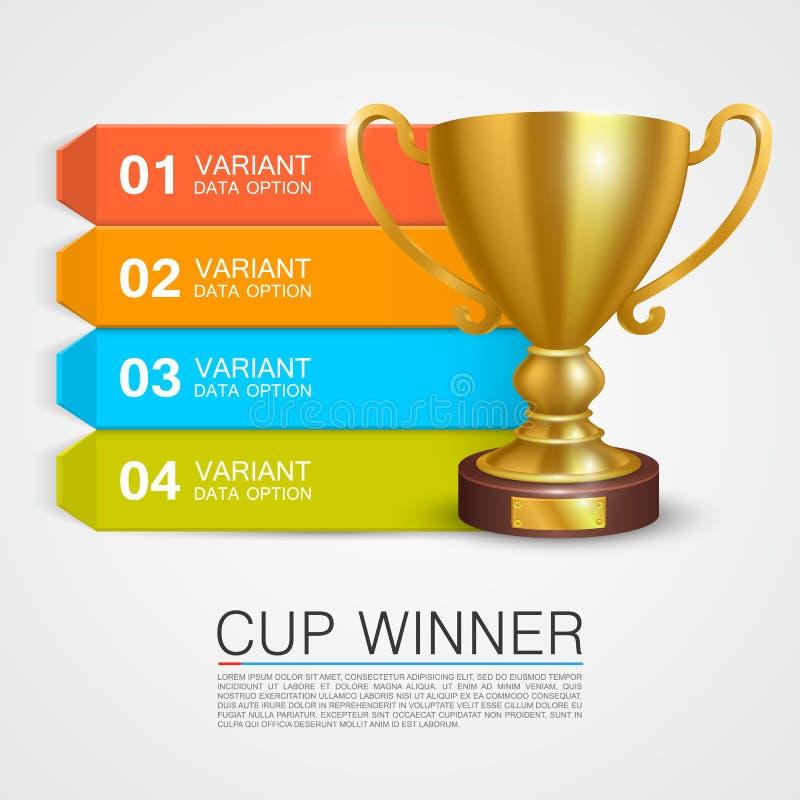 Grafischer Informationen Siegercup stock abbildung