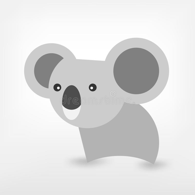 Grafischer Koala lizenzfreie abbildung