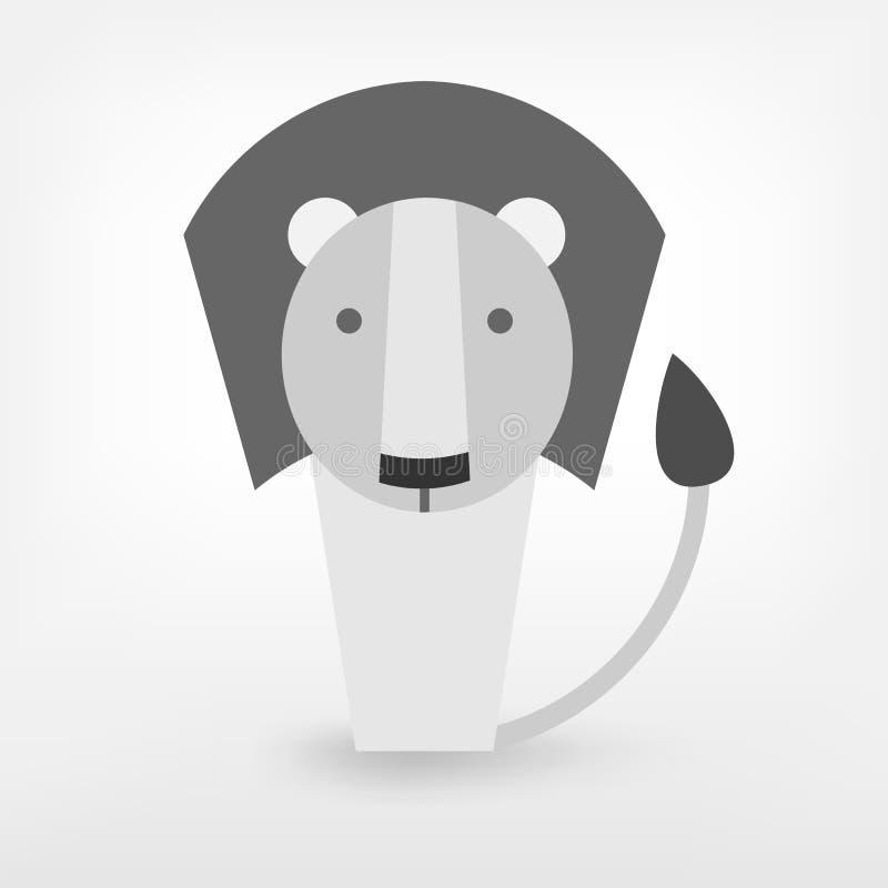 Grafischer Löwe stock abbildung