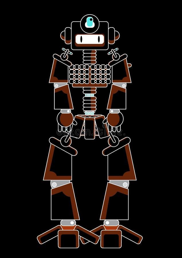 Grafischer Roboter vektor abbildung
