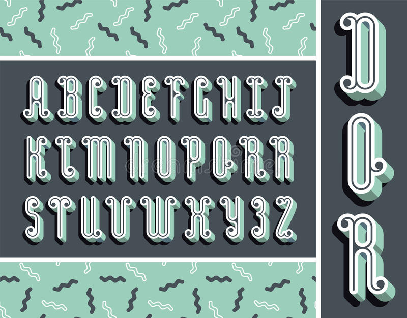 Grafischer tadelloser Guss mit Schatten des Effektes 3d Modernes Design des Vektors stock abbildung