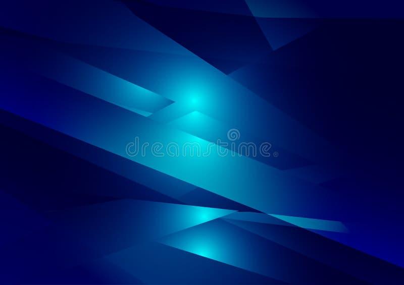Grafischer Vektorhintergrund der blauen Farbgeometrischen Steigungsillustration Polygonales Design des Vektors für Ihren Geschäft lizenzfreie abbildung