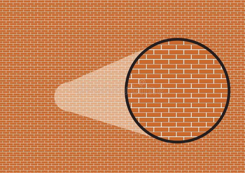 Grafischer Ziegelsteinhintergrund mit Zoom im Detail stock abbildung