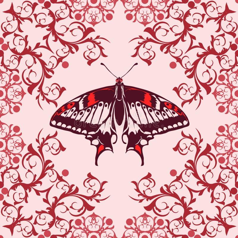 Grafisches Element mit Schmetterling lizenzfreie abbildung