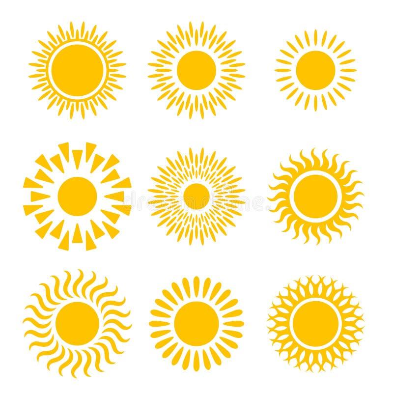 Grafisches Ikonense der Sonnen lizenzfreie abbildung