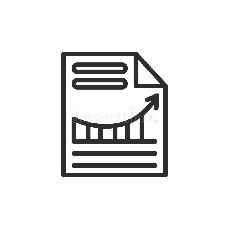 Grafisches Ikonenvektorpapierzeichen und -symbol lokalisiert auf Weißrückseite lizenzfreie abbildung