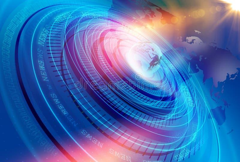 Grafisches modernes Digital-Weltnachrichten-Studio-Hintergrund-Konzept-Se