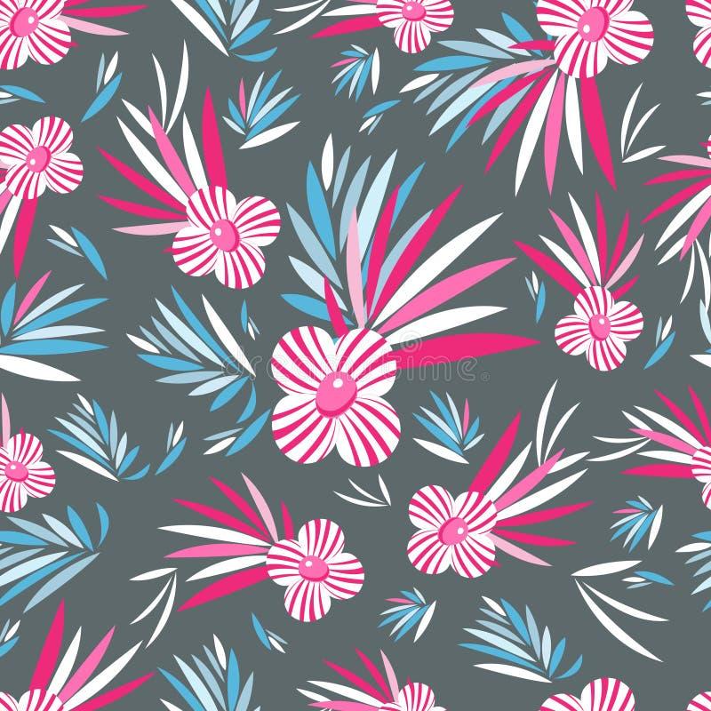 Grafisches Muster von Blumen stock abbildung