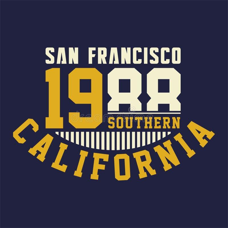 Grafisches San Francisco südlich stock abbildung
