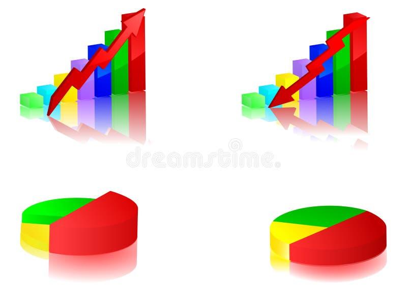 Grafisches Stab- und Torteset vektor abbildung
