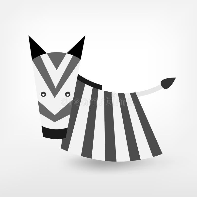 Grafisches Zebra stock abbildung