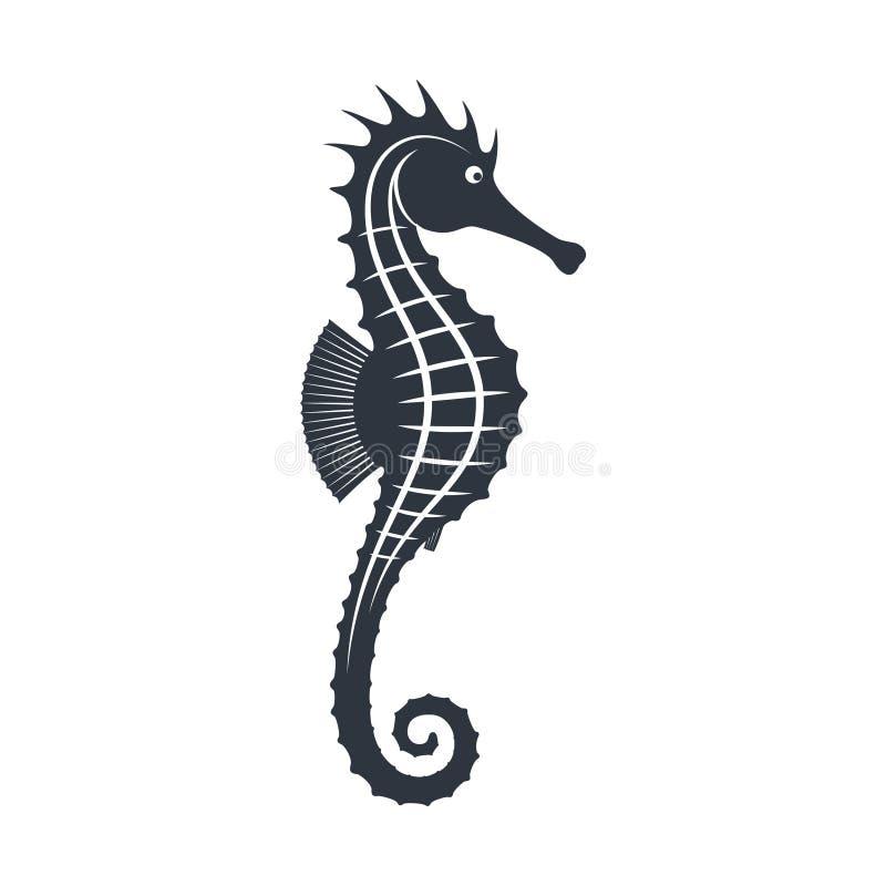 Grafisches Zeichen des Seahorse vektor abbildung