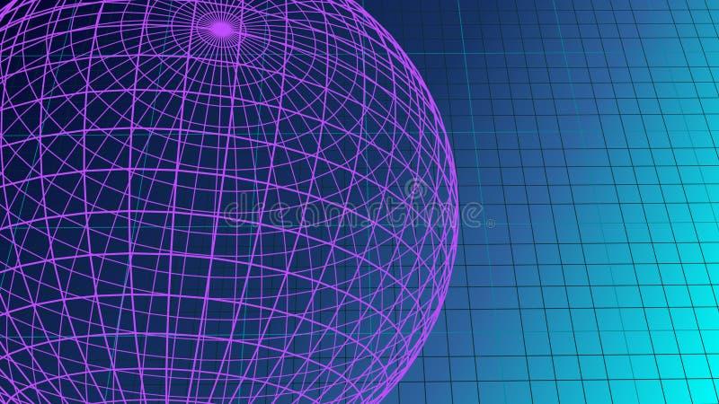 Grafisk bakgrund för ultraviolett tomt räkneark med illustrationen för kopieringsutrymme 3D stock illustrationer