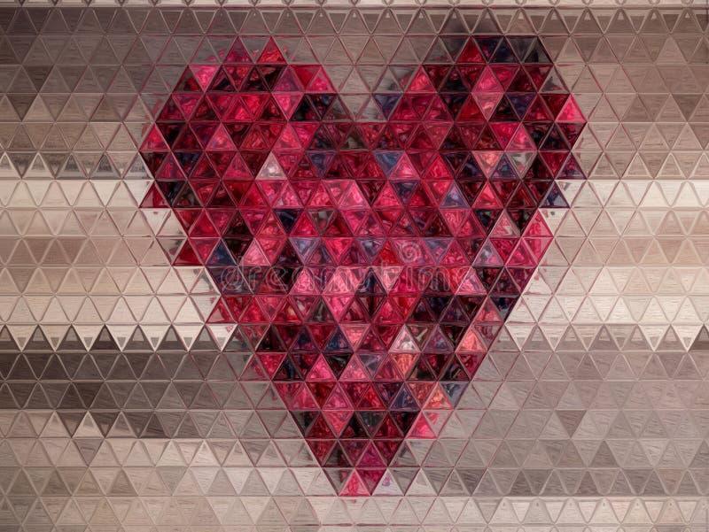 Grafisk bild av rött hjärtadesignabstrakt begrepp royaltyfri illustrationer