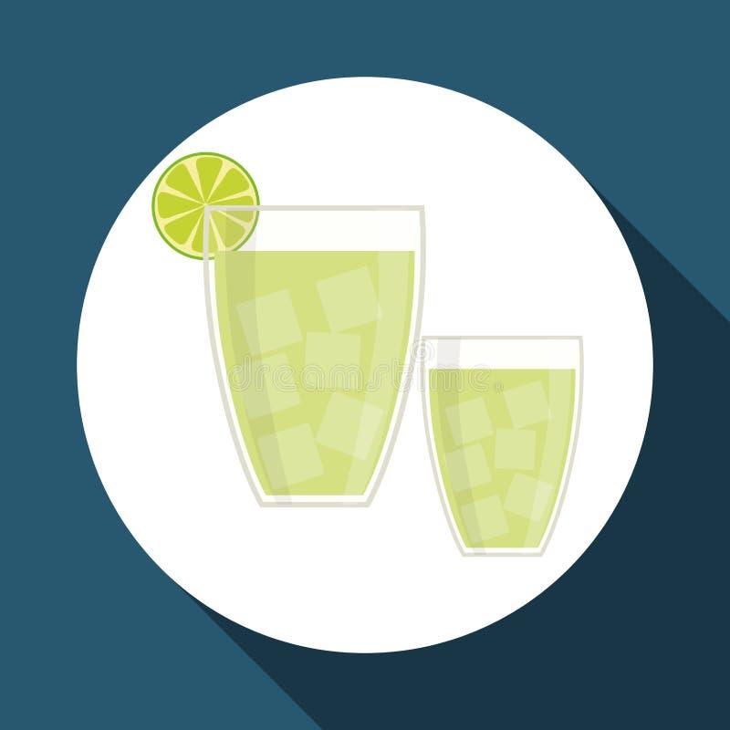 Grafisk design för drink, vektorillustration royaltyfri illustrationer