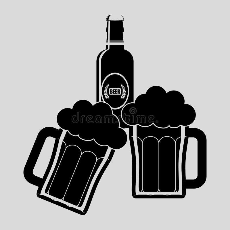 Grafisk design för drink, vektorillustration vektor illustrationer