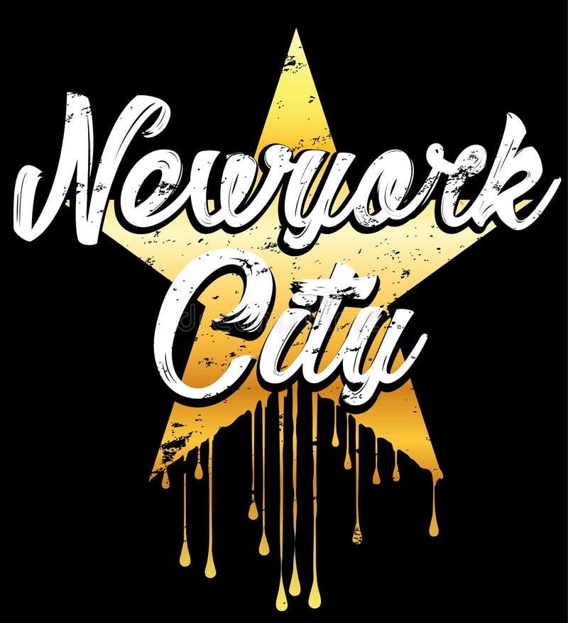 Grafisk design för Newyork typografi stock illustrationer