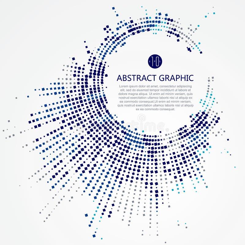 Grafisk design för radiellt galler vektor illustrationer
