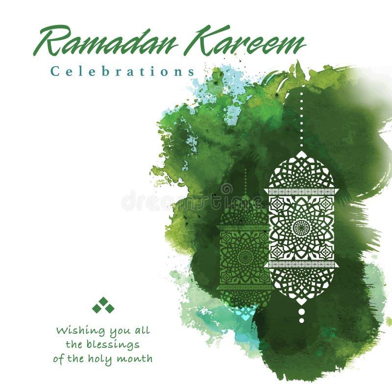 Grafisk design för Ramadan royaltyfri illustrationer