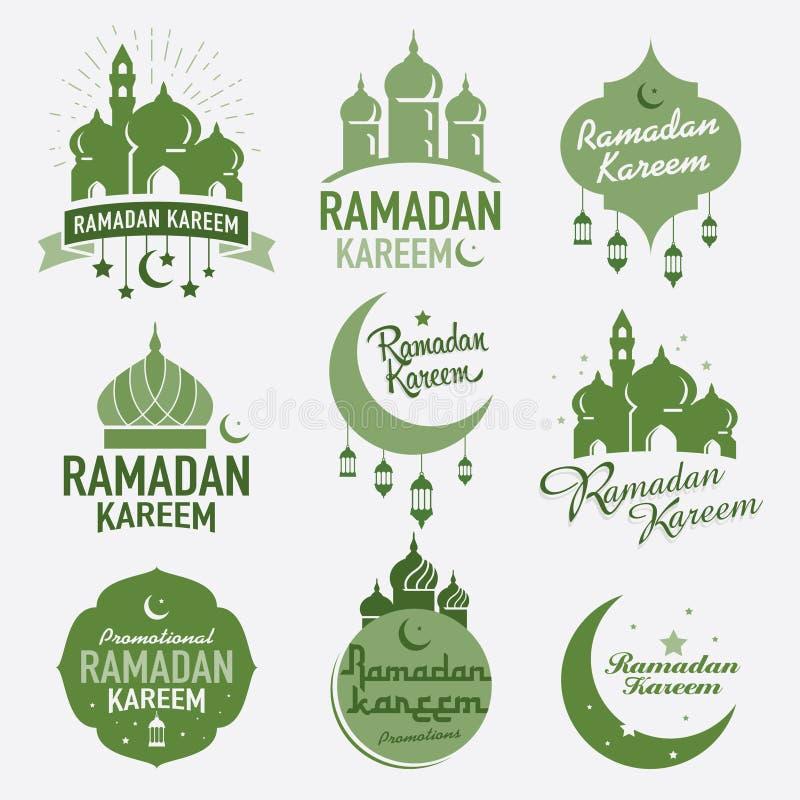 Grafisk design för Ramadan stock illustrationer