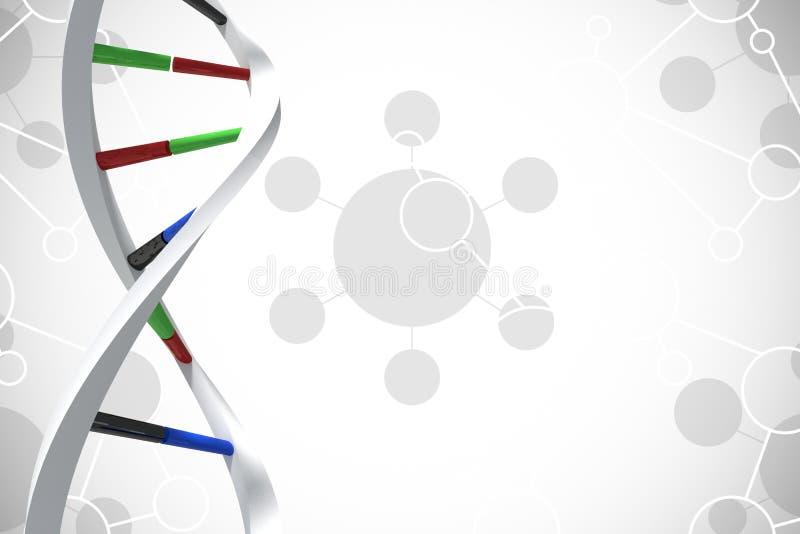 Grafisk design för silverDNA stock illustrationer