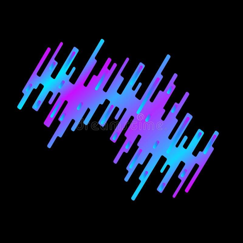 Grafisk design i form av en klick, remsor som är ordnade i ett kaotiskt sätt också vektor för coreldrawillustration stock illustrationer