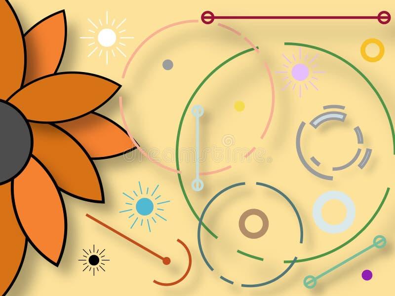 Grafisk design som inspireras av naturliga beståndsdelar och organiska former royaltyfri illustrationer