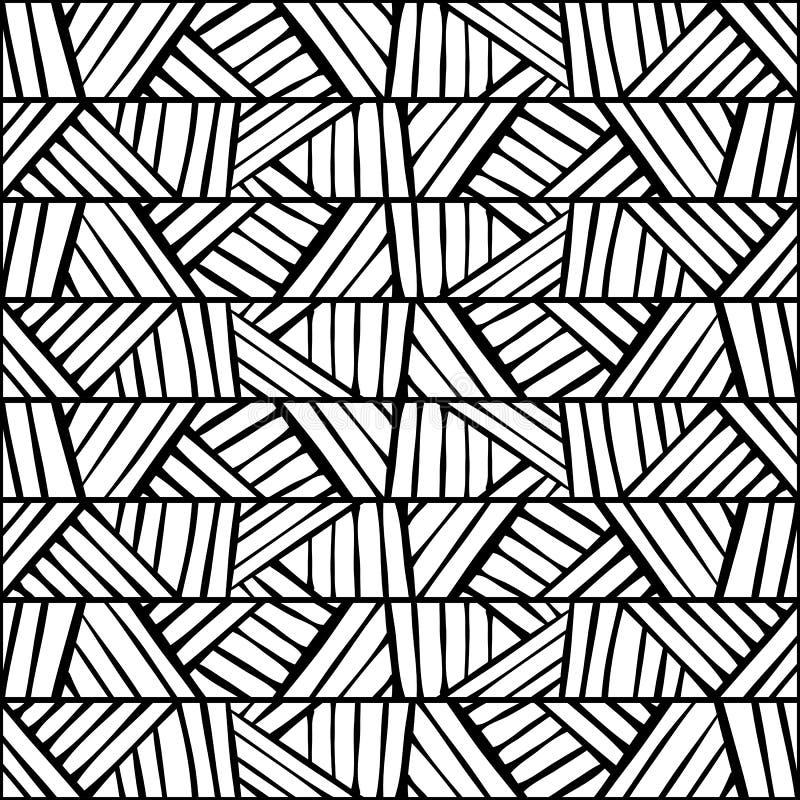 Grafisk etnisk prydnadbanddesign seamless texturvektor vektor illustrationer