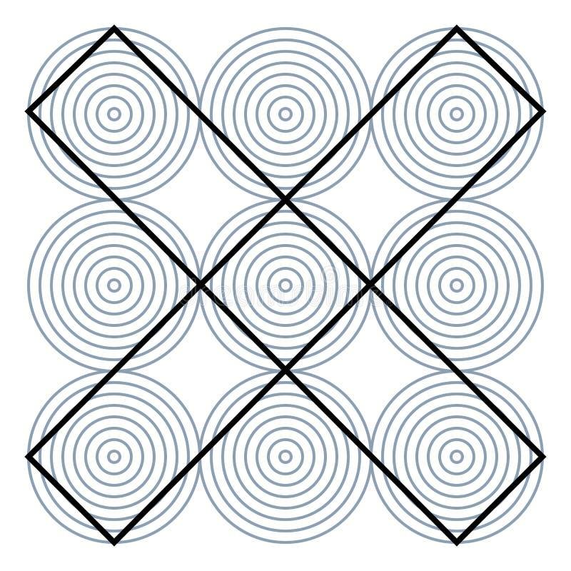 Grafisk fiktion- och visuellt hjälpmedelbryderi Hypnotisk optisk illusion Olika magiska former som bedrar hjärnan vektor illustrationer