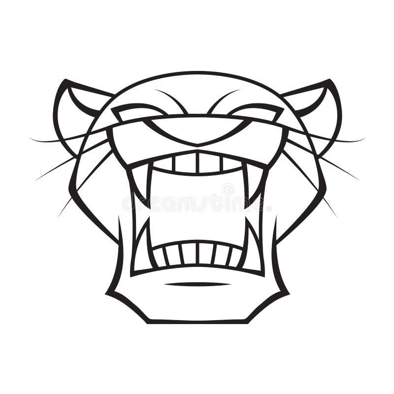 Grafisk head panter, vektor royaltyfri illustrationer