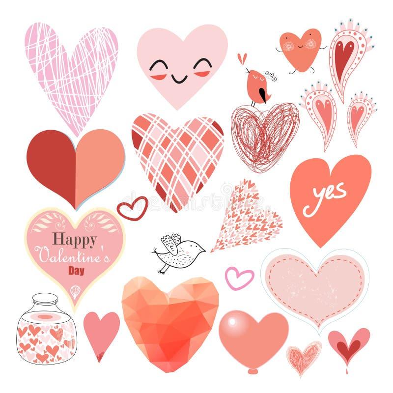 Grafisk hjärtauppsättning royaltyfri illustrationer