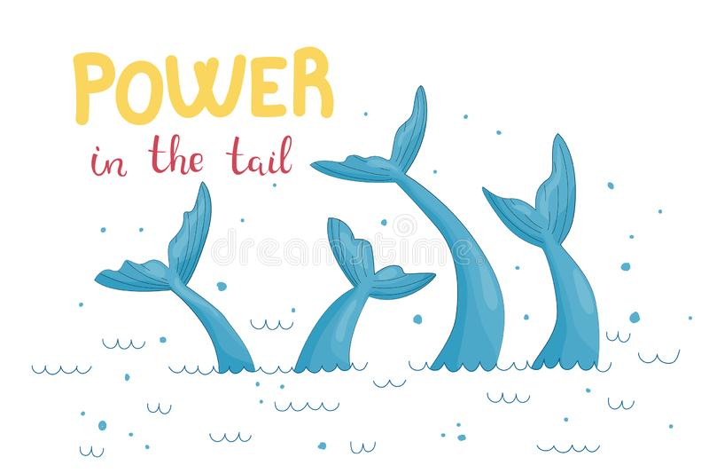 Grafisk illustration för sjöjungfrusvans royaltyfri illustrationer